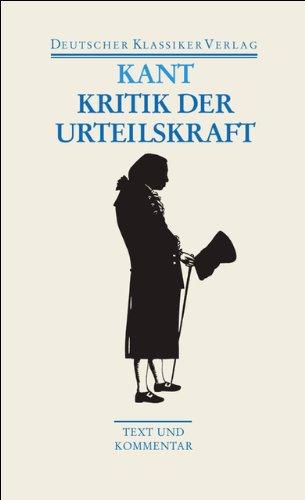Kritik der Urteilskraft / Schriften zur Ästhetik und Naturphilosophie (Deutscher Klassiker Verlag im Taschenbuch)