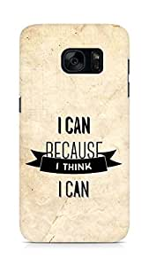 Amez I Can because I Think Back Cover For Samsung Galaxy S7