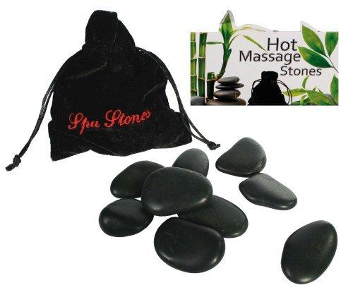 Luxuriöses heiße Steine Massage-Set mit 9 Steinen für Ihr eigenes Spa zu hause - Perfektes Weihnachtsgeschenk für Damen