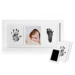 8e0d3486eda Norjews Baby Handprint and Footprint Photo Frame Kit for Newborn Boys and  Girls