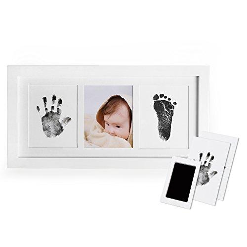 Ungiftig Inkless f/ür Neugeborene 0-6 Monate M/ädchen und Jungen 2pcs Farbe Baby Fu/ß und Handabdruck Set mit Papier-Bilderrahmen Baby Fu/ßabdruck und Handabdruck