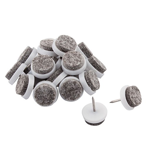 sourcingmap Plastic Coffee Shop Restaurant Furniture Table Chair Leg Nail Protector 20 Pcs Gray White