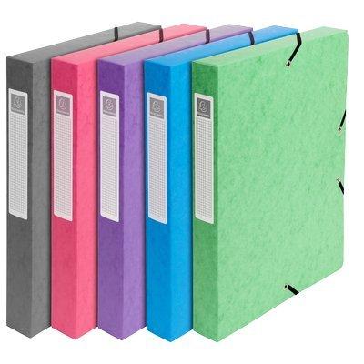 Exacompta 59450E Archivbox (Recycling Karton, Rücken 60 mm, DIN A4) zufällige Farbe (Karton-recycling-container)