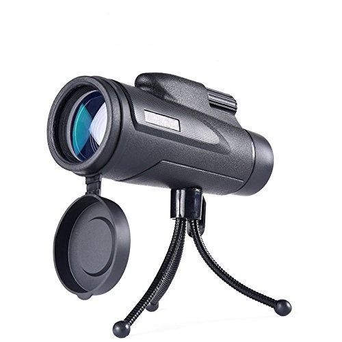 YUYU Yu großes Okular Monokular Teleskop 12x 50High-Definition Hochleistungs-Night Vision Dimmen Outdoor tragbar, Schwarz