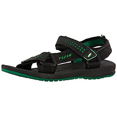 Fizik Men's Black Green Synthetic Sandals (BLADE) - 9 UK