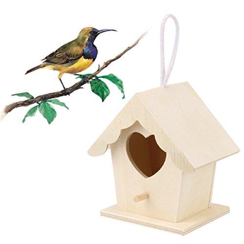 TAOtTAO Nest DOX Nest House Bird House Bird House Nichoir Bird Boîte Boîte en Bois 10x9cm Kaki