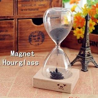 AOMAG® Man Friday Eisenpulver Magnet Sanduhr mit HolzhalterDSEK Spielzeug