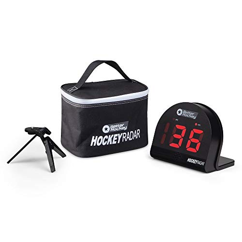 Better Hockey Extreme Personal Speed Radar - Shooting Training Aid - Can be Used for Multiple Sports - Range 5 to 210 km/h - Large 6 cm LED Display - Can be Set Up Anywhere Radar Range