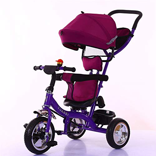 WDXIN Cochecito de Bebe Plegable Rodamiento de Super Carga Sistema de direccion Diseño de Rueda antideflagrante Adecuado para bebé de 1-4 años,Purple