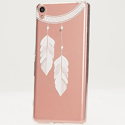 delightable24 Cover Case in Silicone TPU per Smartphone SONY XPERIA XA, Designs:Chain Feathers