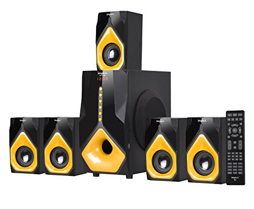 Impex 5.1 BEAT B2 100 W Multimedia Bluetooth Speaker System (Black & Yellow)