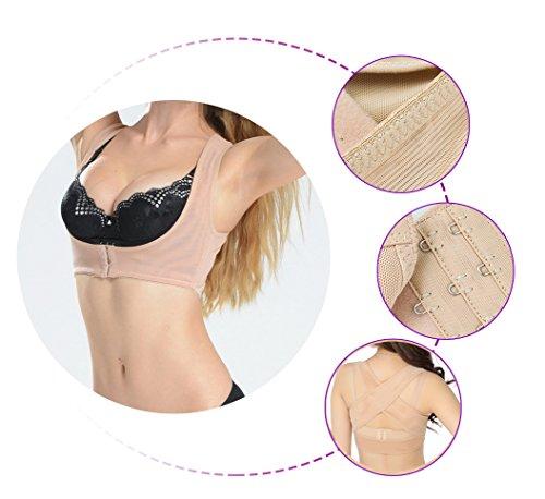 Criss Cross Rücken-unterstützung (X Form BH Unterstützung Gürtel & #-; risingmed Frauen Bucklige Rückenstabilisator, Körper formbare Gurt Rücken Schulter Weste X Type Muster Rückseite Support Bandage mit Push Up-BH)