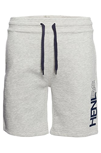 Henleys Herren Designer Fleece- Jogginghose Sport Gym lässig Gym Joggen  Gr. Medium, Grau - Athletic Grey (Fleece Shorts Athletic)