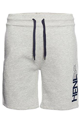 Henleys Herren Designer Fleece- Jogginghose Sport Gym lässig Gym Joggen  Gr. Medium, Grau - Athletic Grey (Athletic Shorts Fleece)