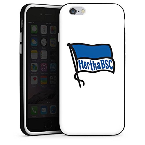 Apple iPhone 7 Silikon Hülle Case Schutzhülle Hertha BSC Fanartikel Silikon Case schwarz / weiß