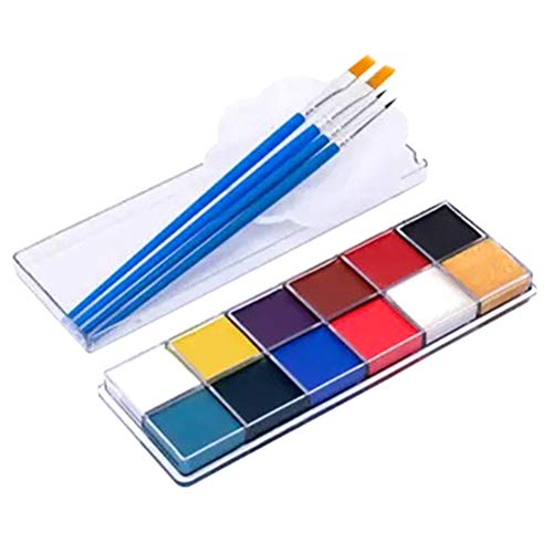 SUPVOX Halloween Körper Malerei Kit Professionelle Ungiftige Farbe Palette für Party Body Art Drama Make-Up Dance Cosplay