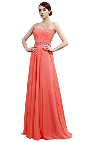 Promgirl House - Robe - Trapèze - Femme Orange - Corail