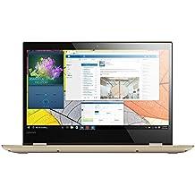 """Lenovo YOGA 520-14IKB - Portátil táctil convertible de 14.0"""" FullHD (Intel Core I5-7200U, RAM de 8 GB, HDD de 1 TB, Nvidia GeForce GT 940MX de 2 GB, Windows 10 Home 64 bit), dorado - Teclado QWERTY Español"""