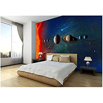 44449697 Solar system and space objects photo Wallpaper wall mural Space