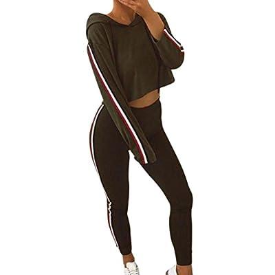 Hoodie Sweatshirt Tops + Trainingshose, ZIYOU Damen Trainingsanzug Sportanzug Jogginganzug