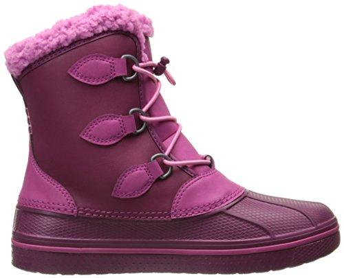 Crocs AllCast II Boot, Bottes mixte enfant Rouge (Berry)