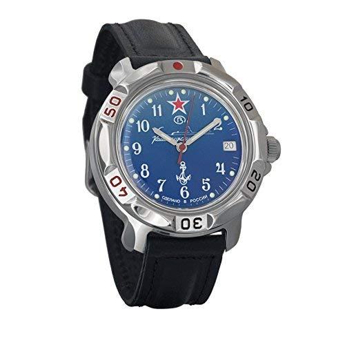 Vostok/Wostok Komandirskie 2414 811289 U-Boot Russisches Militär Mechanische Uhr