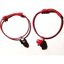 Lot des 2 Bracelets Kawai MANEKI NEKO - Bracelet japonais porte-bonheur
