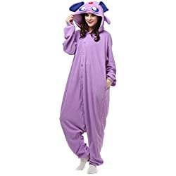 Albrose Cartoon Jumpsuits Pajamas Clothing Kigurumi Cosplay Costumes Purple Monster S