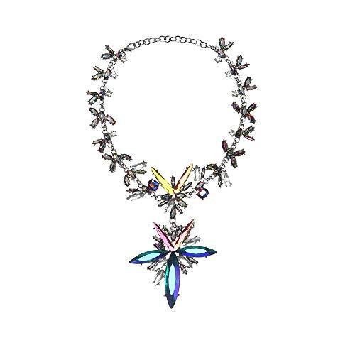 Holylove Damen Statement Halskette Bunt, Costume Schmuck für Damen Neuheit Mode Halskette 1 PC mit Geschenkbox- HLC02 Colorful