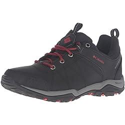 Columbia Fire Venture Low Waterproof, Zapatillas de Deporte Exterior para Mujer, Negro (Black, Burnt Henna 010Black, Burnt Henna 010), 37.5 EU