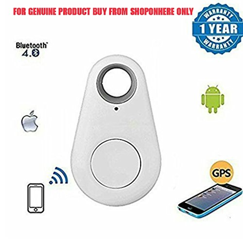 Wireless Bluetooth 4.0 Smart Anti-lost Anti-Theft Spy Mini GPS Tracking Alarm Device Tracker with remote Shutter, Recording Compatible with Android and iOS Smartphones