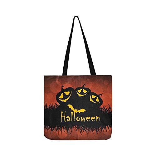 Halloween Party Poster Banner Leinwand Tote Handtasche Schultertasche Crossbody Taschen Geldbörsen Für Männer Und Frauen Einkaufstasche -