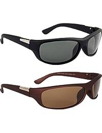 Y&S Aviator Men's Sunglasses -(55|Black & Brown)