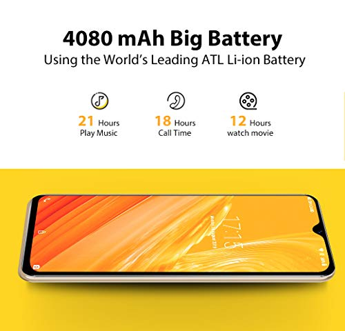 Mobile Phone, Blackview A60 SIM-Free Smartphone Unlocked, 6.1-Inch IPS Full-Screen, 16GB Dual SIM Android 8.1 Unlocked Mobile Phone, 4080mAh Battery, 5MP+13MP Dual Camera, UK Version - Black Img 1 Zoom