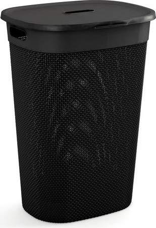 Kis 67160000022 - portabiancheria da 55 litri, materiale plastica, colore nero