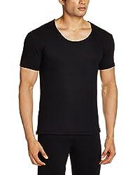 Jockey Mens Cotton Thermal Top (8901326077351_2600-0105-BLACK Black S)