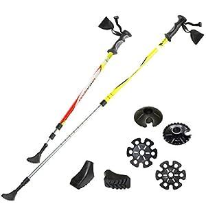 Ultrasport 3 in 1 Ganzjahres Trekking-Wander-Skistock, Länge 71 bis 145 cm inkl. 3M Reflektorstreifen