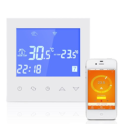 Chunyang Wlan Thermostat Fussbodenheizung Thermostat mit Touchscreen Heizungsthermostat Smart WIFI Programmierbare Temperaturregler mit LCD Display 3A 200-240V