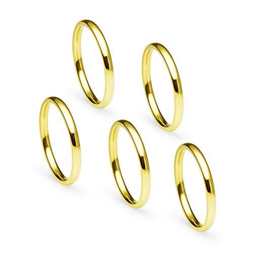 Gotta Have It Unisex Herren Damen - Edelstahl (Gold Hochzeit Ring Gelb Herren Band)