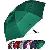 """Eono Amazon Marke Essentials 58""""/62"""" Automatische Öffnen Golf Schirme, Foldable Golf Regenschirm, Golfschirme, Übergroß Doppelt Überdachung Belüftet, Winddicht wasserdichte Stock Regenschirme"""