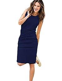 878dc7f1ce641 Wanshop ® Summer Dresses for Women Sleeveless Summer Dresses for Women  Round Collar Party Dress