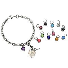 Idea Regalo - Rosemarie collezioni da donna, la festa della mamma, braccialetto con ciondoli portafortuna cuore
