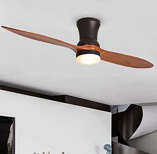 Deckenventilator elektrische Ventilator Licht Moderne Blockhaus Ventilator Licht 52 Zoll / 132 cm einfache Schlafzimmer Wohnzimmer Esszimmer Ventilator Licht-black -