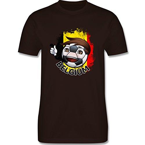 EM 2016 - Frankreich - Fußballjunge Belgien - Herren Premium T-Shirt Braun