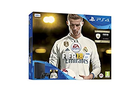 Sony PlayStation 4 FIFA18 Ronaldo Edition (3 Days Early Access Plus FIFA 18 Ultimate Team Icons and Rare Player Pack) 500 GB