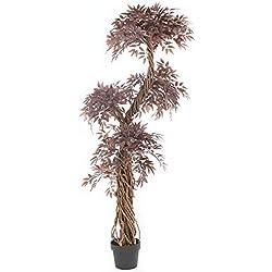 Stilvoller roter künstlicher Baum u. Pflanzen. Der rote japanische Fruticosa Baum ist eine schöne künstliche Pflanze für Büros und Innendekoration Höhe: 165cm, japanische rote Wisteria Topiary Baum.