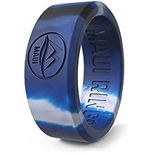 Anillo de bodas Maui Rings Best, de silicona, con estilo sólido, para hombre