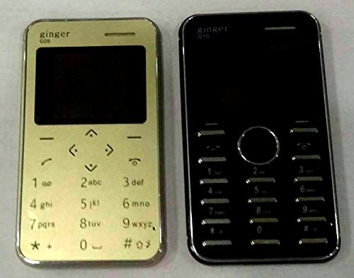 Ginger G09 1.44 Inch Qqvga Display Slim Card Size Gsm Single Sim Keypad Mobile (gold) (only Mobile Phone & Charging Cable In Box, No Charger Or Earphone)