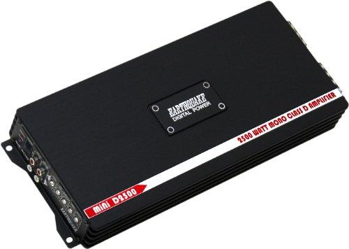 Earthquake Sound MiNi-D2500 Digital Class D 2500W Mono Subwoofer Amplifier, NEW (Verstärker Watt 1800 Auto)