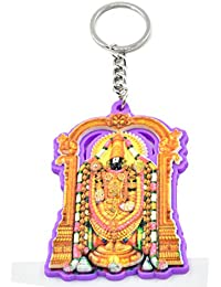 1ed60db521 Faynci Tirupati Balaji (Lord Venkateshwara ) Decorative Key Chain Purple  Shade for Gifting